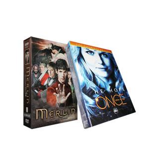 Once Upon A Time Season 1 & Merlin Seasons 1-4 DVD Boxset
