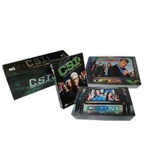 CSI Complete Series DVD Boxset - Las Vegas 1-14, Miami 1-10, New York 1-8
