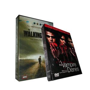 The Walking Dead Season 2 & The Vampire Diaries Season 3 DVD Boxset