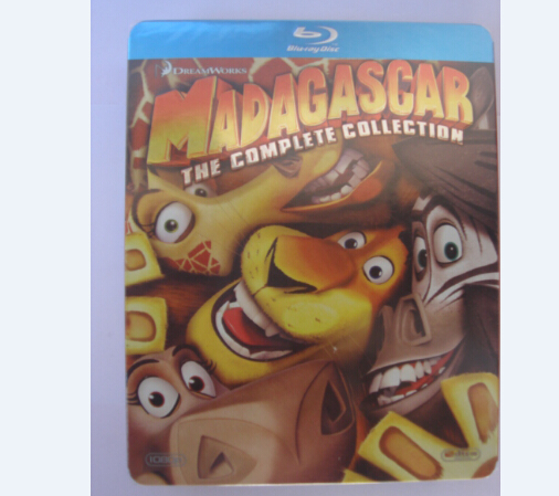 Madagascar Complete 1-3 DVD Boxset [Blu-ray]